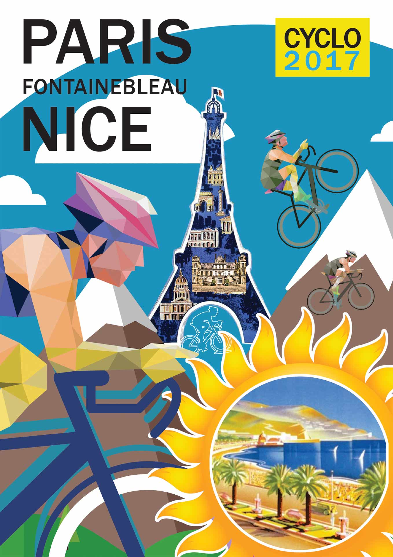 Affiche Paris Nice Cyclo 2017
