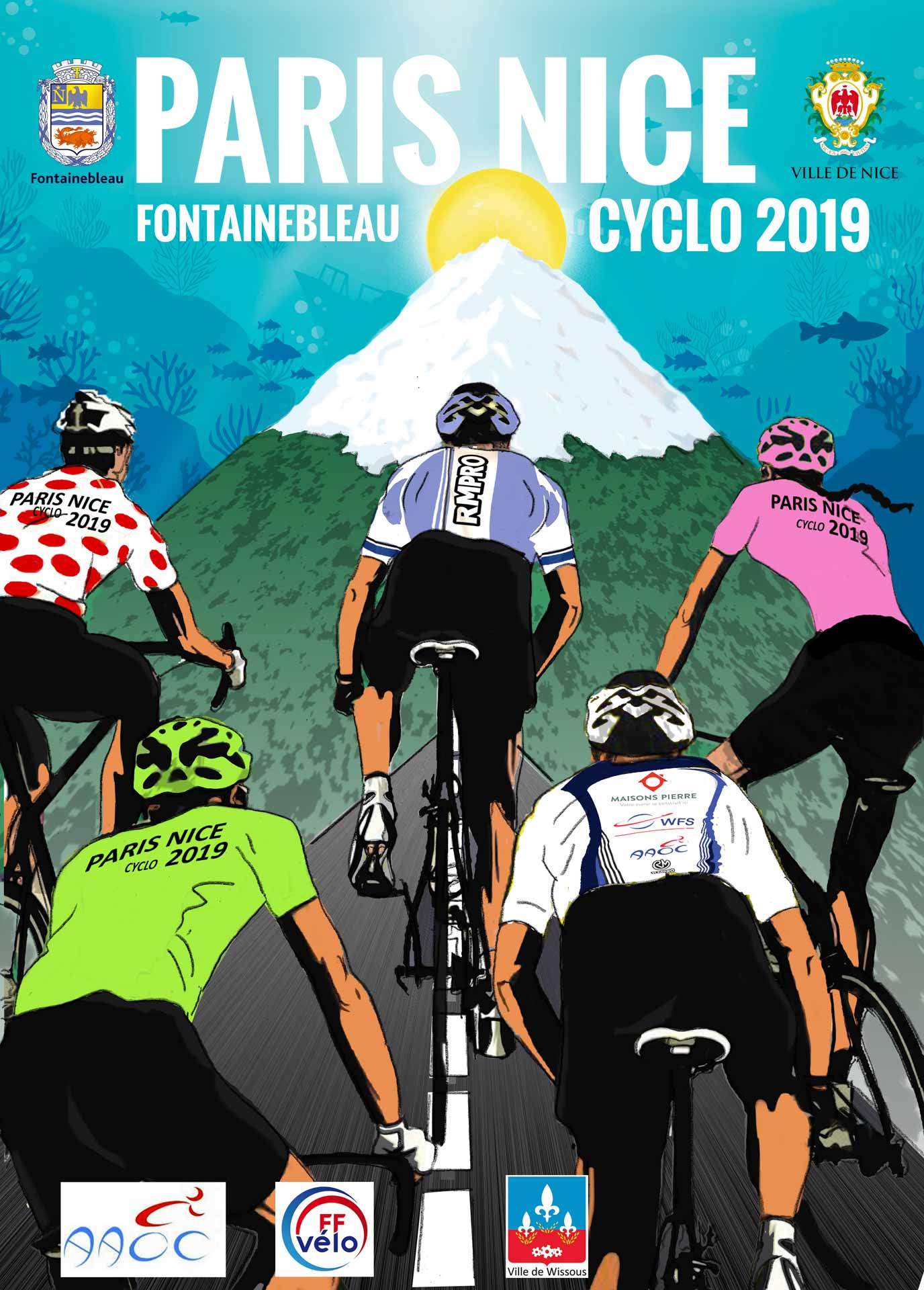 Affiche Paris Nice Cyclo 2019
